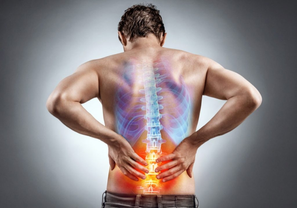 man with a hurting back